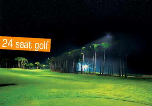 Avrupa'nın ilk ve tek aydınlatmalı golf sahası Antalya'da