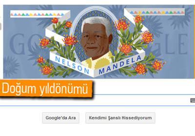 GOOGLE'DAN NELSON MANDELA DOODLE'I