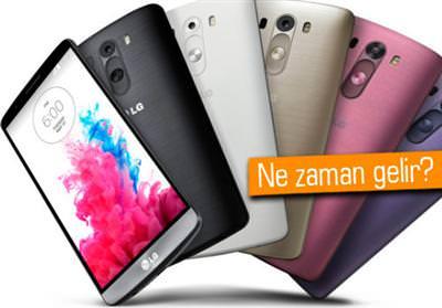 LG G3'ÜN RENK SEÇENEKLERİ YOLDA