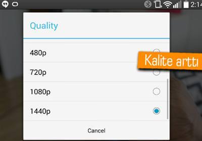 YOUTUBE ARTIK LG G3'TE 1440P VİDEOLARI DA OYNATACAK