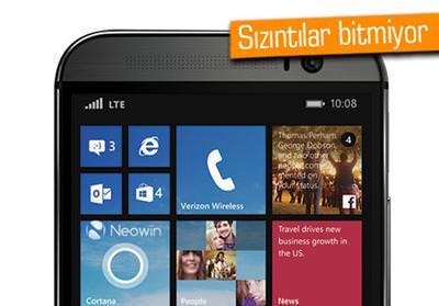 WİNDOWS'LU HTC ONE M8'DEN YENİ SIZINTI