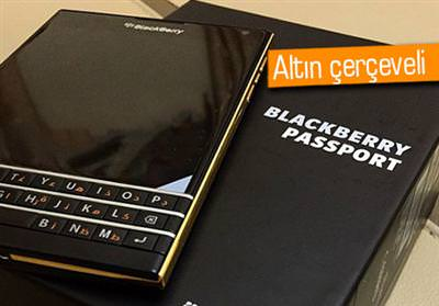 ALTIN KAPLAMALI BLACKBERRY PASSPORT YOLDA