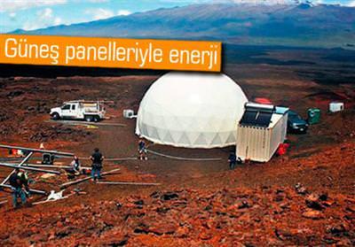 MARS'TA KURULACAK ASTRONOT EVLERİNİ CANLANDIRDILAR
