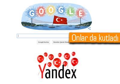 GOOGLE VE YANDEX'TEN CUMHURİYET BAYRAMI DOODLE'LARI