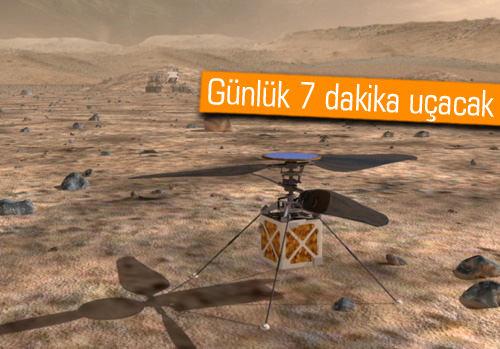 NASA, Mars helikopterini test ediyor