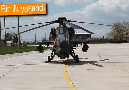 Yerli helikopterimiz Atak tatbikata katıldı