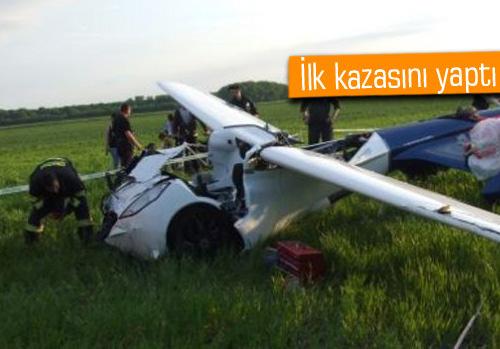 Uçan araba Aeromobil yere çakıldı!