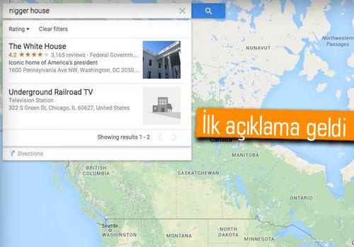 Google Maps'teki ırkçı arama sonuçlarına Google'dan özür