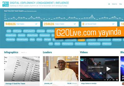 G20 ZİRVESİ'NİN KALBİ G20LİVE.COM'DA ATACAK