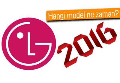LG'NİN 2016 YOL HARİTASI VE LG G5'İN ÇIKIŞ TARİHİ ORTAYA ÇIKTI!