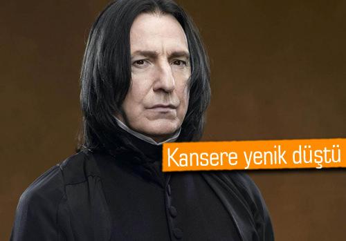 Harry Potter'ın profesör Snape'i hayatını kaybetti