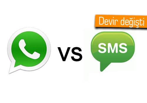 WhatsApp hayatımıza girdi, SMS gözden düştü