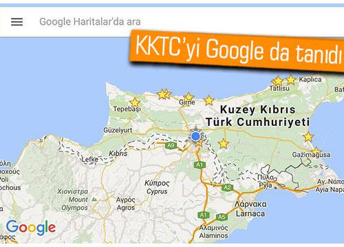 Google Haritalar'a KKTC de eklendi