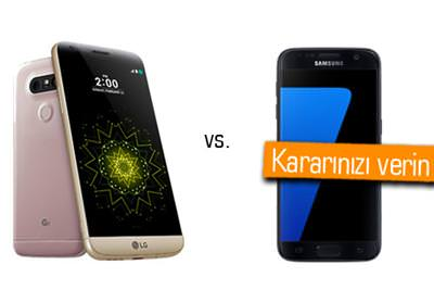 SAMSUNG GALAXY S7 VE LG G5 AYNI FİYATA SAHİP. SİZCE HANGİSİ?