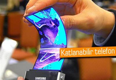 SAMSUNG'DAN KATLANABİLİR EKRANLI TELEFON GELİYOR