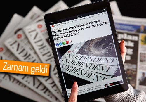 The Independent gazetesi son kez basıldı!