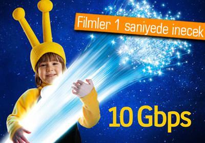 TURKCELL FİBERDE 10 GBPS HIZ SUNMAYA HAZIRLANIYOR
