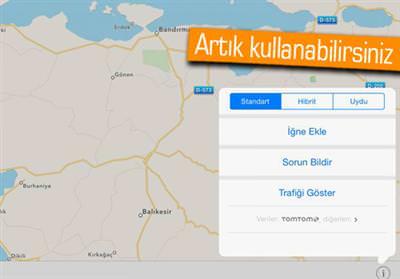 APPLE, TÜRKİYE'DE DE TRAFİK BİLGİSİ SUNMAYA BAŞLADI!