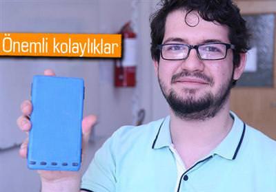 GÖRME ENGELLİLERİN AKILLI TELEFONU 'TACTİX' GÖRÜCÜYE ÇIKIYOR