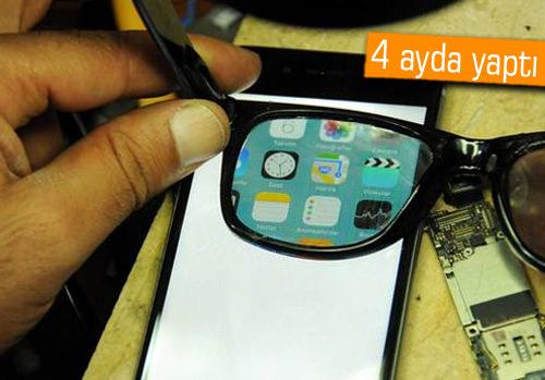 Diyarbakırlı mucitten telefon ekranını görünmez kılan akıllı gözlük!