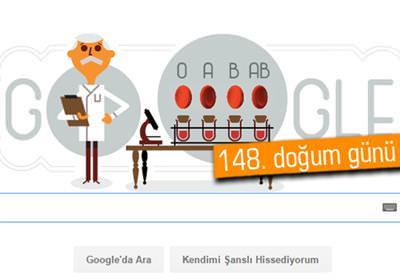 GOOGLE'DAN KARL LANDSTEİNER DOODLE'I