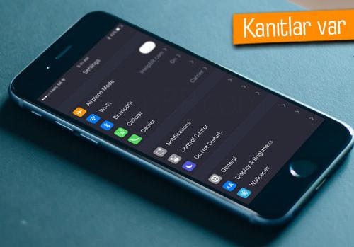 iOS 10 karanlık tarafı seçti