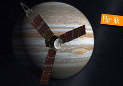 NASA'NIN JUNO UZAY ARACI 5 YILLIK YOLCUĞUN ARDINDAN JÜPİTER'E ULAŞIYOR