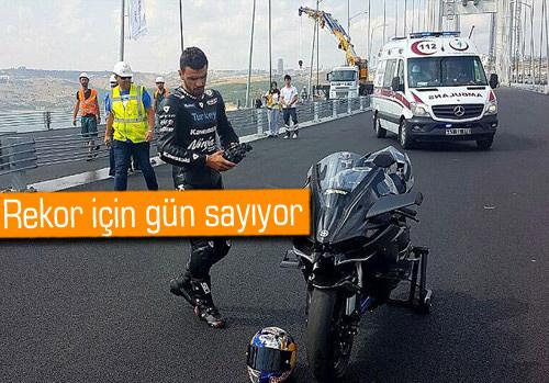Sofuoğlu, hız rekoru için Osmangazi Köprüsü'nde test sürüşü yaptı