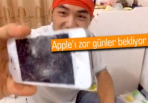 Vatansever Çinliler iPhone'larını parçalamaya başladılar! Sebebi ne?