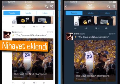 Twitter'ın Gece Modu iOS'a da geldi