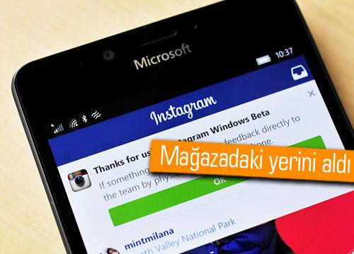 Instagram'ın, Windows 10 uygulaması yayınlandı