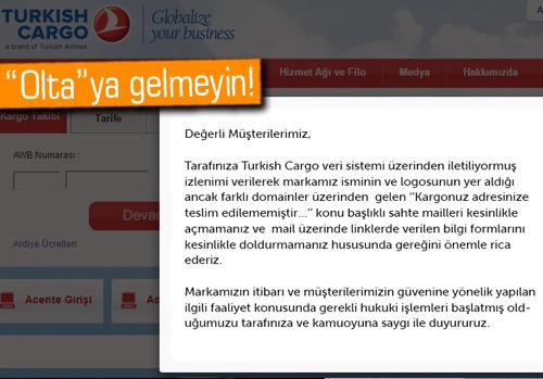 Türk Hava Yolları'ndan kargo maili uyarısı!