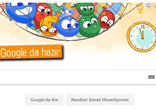 Google'dan Yılbaşı Doodle'ı
