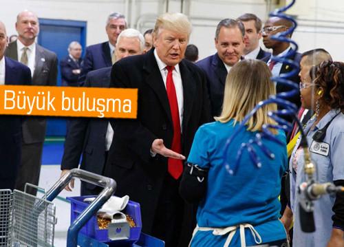 Donald Trump otomobil devleriyle buluştu
